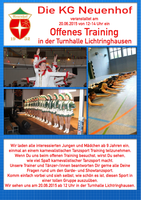Flyer offenes Training